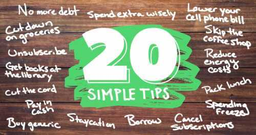 5 simple tips to save money