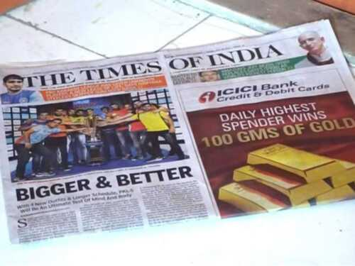 Articles picked up by major newspapers