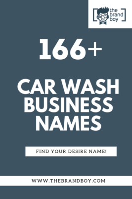 Car wash business name ideas