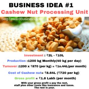 Cashew Processing Company  Business Plan