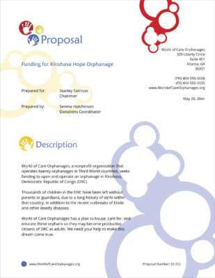 Create a business plan template for an orphanage
