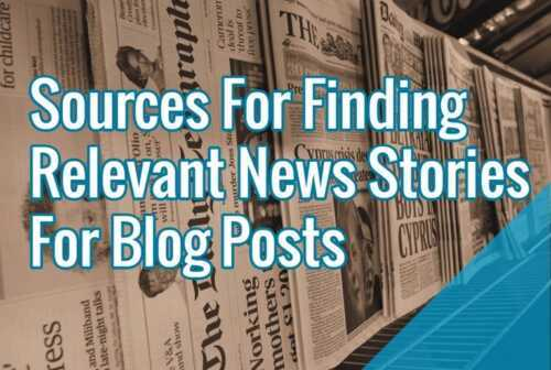 Find a news or information source for your blog