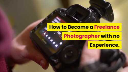 Freelance photographer without experience