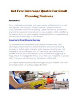 Get an insurance policy for your cleaning business