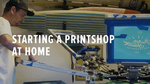 Home Screen Printing Business