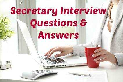 Interview a secretary