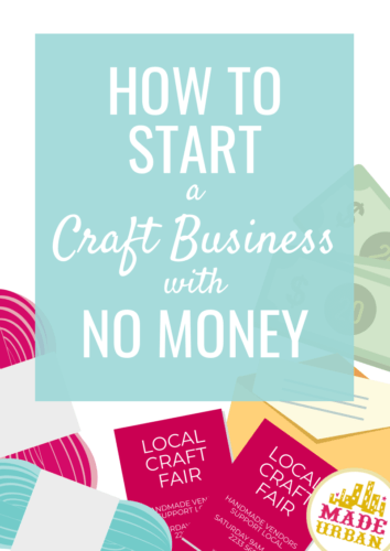 Online craft business with no money