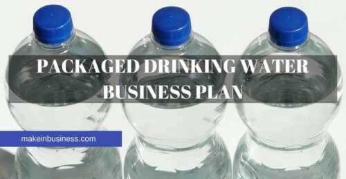 Packaged drinking water business