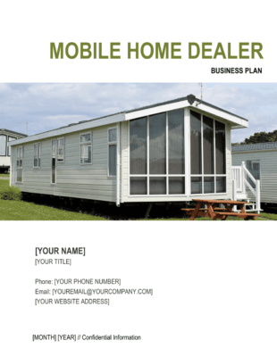 Park Home Building Mobile Business Plan