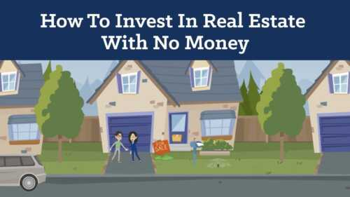Real estate investor without money