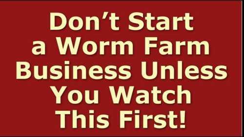 Sample Startup Worm Farm Business Plan Template