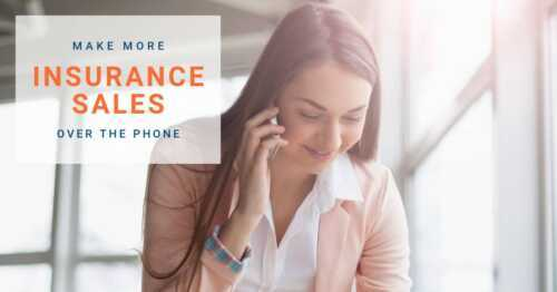 Sell insurance . faster over the phone from home
