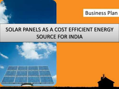 Solar Panel Business Plan