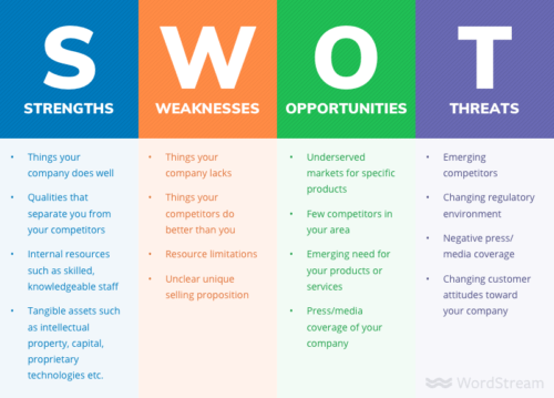 SWOT analysis of the Business