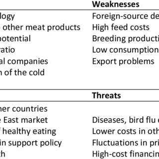 SWOT analysis of the poultry business plan