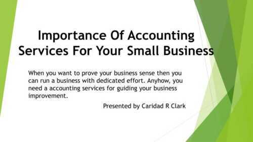 The importance of accounting for small businesses