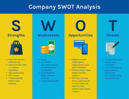 Thorough SWOT analysis on your own