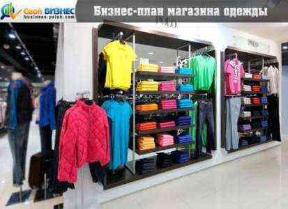 Образец финансовой проекции магазина одежды Бизнес-план